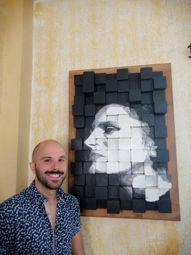 Retrato anamórfico de Amália Rodrigues