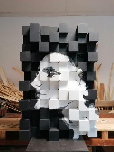 Retrato em madeira